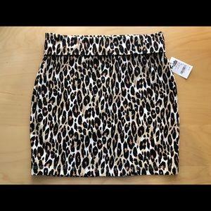 Charlotte Russe Leopard Skirt